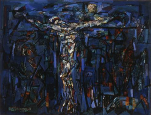 Crucifixion in Blue (Composition II)