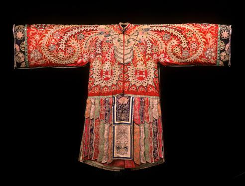 Reversible Theatrical Robe for the Role of a Celestial Woman in Cantonese Opera