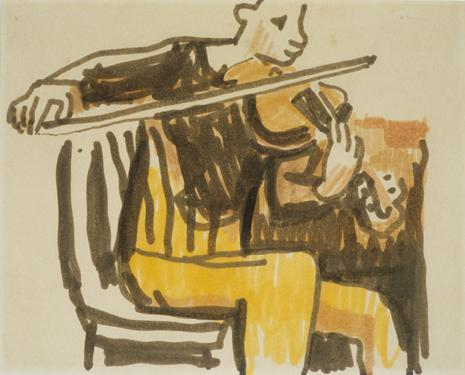 Seated Violin Player